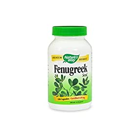 Fenugreek Seed 610 mg by Nature's Way 180 Capsules