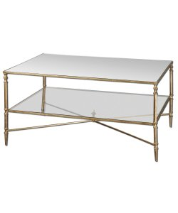 Uttermost Henzler Mirrored Glass Coffee Table by Uttermost