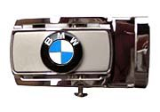 Silver Buckle with BMW Roundel with Black Ratchet Belt