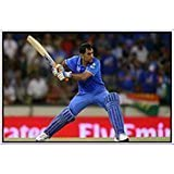 MS Dhoni Cricket Poster. Wall Posters For Room In Home And Office. Paper Plane Design Poster-20