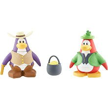 Disney Club Penguin Series 3 Mix 'N Match Mini Figure Pack Leprechaun and Cowboy (Includes Coin with Code!)