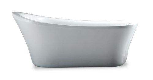 For Sale! OVE Rachel 70-Inch Freestanding Acrylic Bathtub, Glossy White