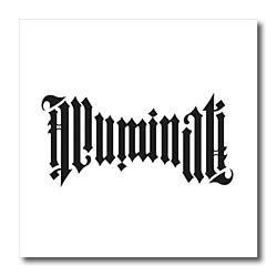 EvaDane – Signs – Illuminati Ambigram. – Iron on Heat Transfers – 8×8 Iron on Heat Transfer for White Material