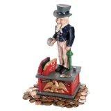 Design Toscano Uncle Sam Cast Iron Mechanical Bank