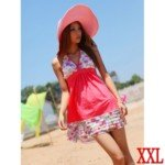 Stylish Shivering Pattern Skirt Style Bikini Set-Red/Size XXL