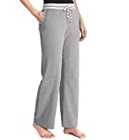 Cotton Rich Striped Waistband Pyjama Bottoms