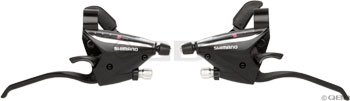Buy Low Price Shimano ST-EF65 Shift/Brake Set (Black, 3×7 Speed) (ESTEF654P7AL)