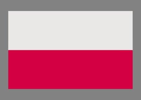 Magflags Poland-Grey Bg | Polski Na Szarym Tle - Kontrast Dla Bieli I Czerwieni Flag 90X150Cm | 3X5Ft