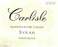 Carlisle Syrah Papa'S Block 2010 750Ml