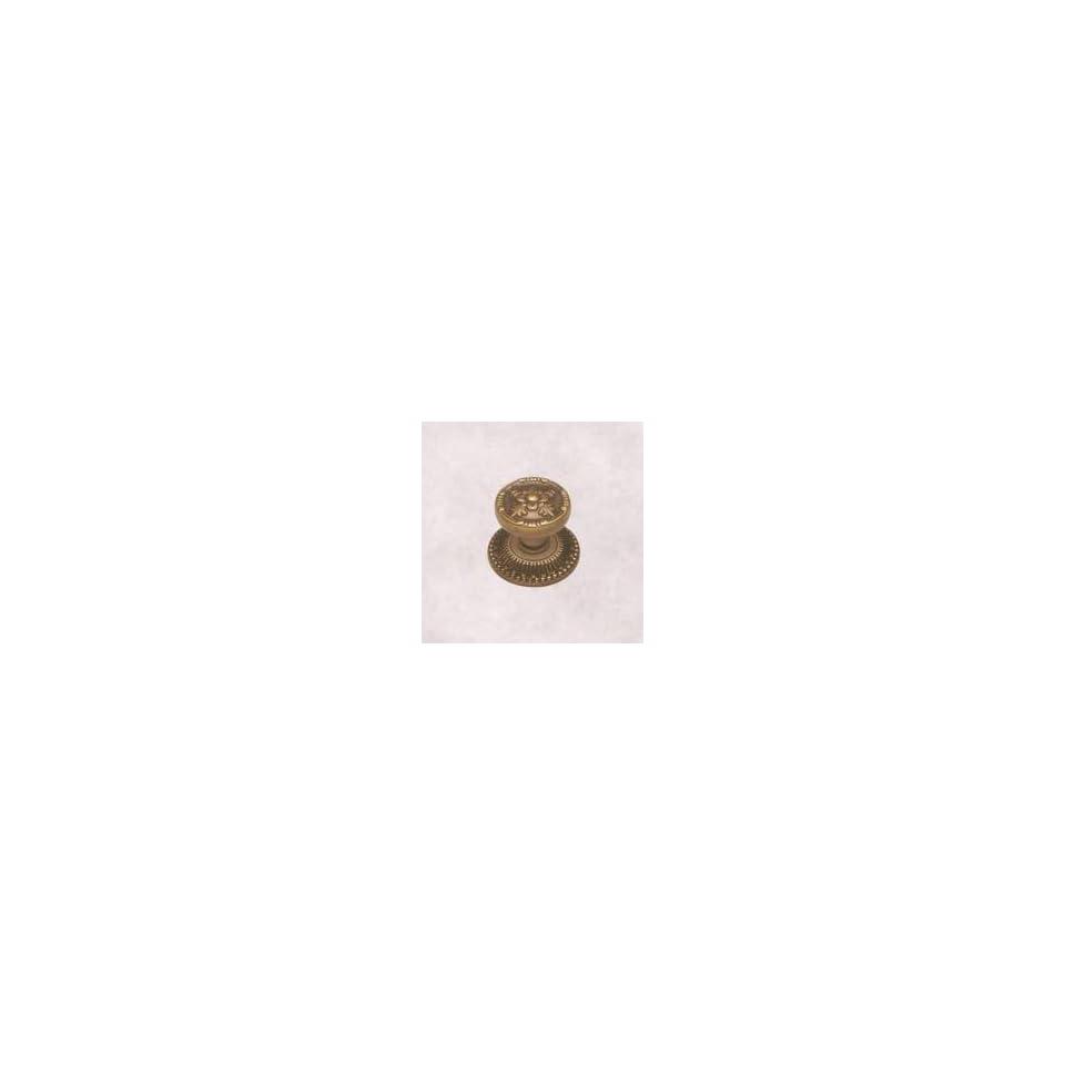Belwith Keeler Richelieu Collection 1 1/4 Lion Cabinet Knob Antique Brass