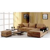 Beverly Hills Furniture Telus-Brown-Sectional-Lf Telus Fabric Left Facing Chaise front-326612