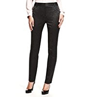 M&S Collection Modern Slim Leg Jacquard Trousers