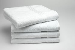 4 100% Egyptian Cotton Face Flannel 500gsm - Supreme - White