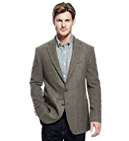 Blue Harbour Heritage Wool Rich 2 Button Checked Jacket