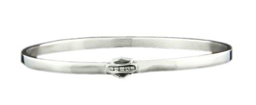 Harley-Davidson Stainless Steel Cubic Zirnoia Bracelet