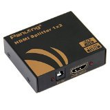 Panlong 1X2 HDMI Splitter 1 In 2 Out 2-Port Amplifier Certified for Full HD 1080P & 3D (One Input To Two Outputs)