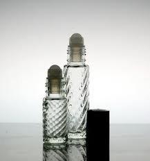 12 - Fancy Swirl Roll On Refillable Glass Perfume Bottle Purse or Travel Size 1/3 oz.