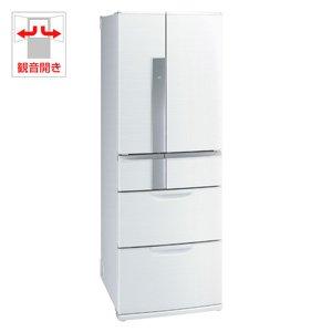 三菱 525L 6ドア冷蔵庫(シェルホワイト)MITSUBISHI 置けるスマート大容量 切れちゃう瞬冷凍 MR-JX53X-W