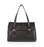 M&S Collection Leather Buckle & Stud Tote Bag