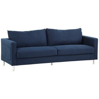Hailey Dark Blue 84-Inch-W 3-Seater Sofa