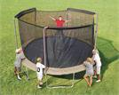 14ft (frame size) Replacement Trampoline netting/straps only for 3 Arch System - Fits Bounce Pro and other supply