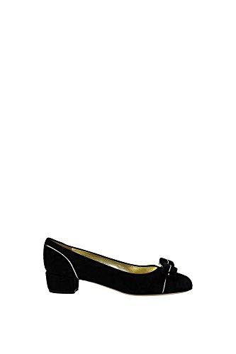 ballerine-salvatore-ferragamo-femme-chamois-noir-et-platine-varapipin0616055-noir-38eu