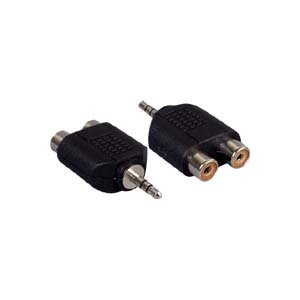 InstallerParts 3.5mm Stereo Plug to Dual RCA Jack Adapter (Mini Jack To Coaxial compare prices)