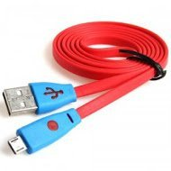 ShopSwipe Basic Light Up LED With Flashing Smiley Face Charge Sync Cable For Android PHone/ Red