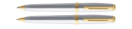 Sheaffer Prelude Brushed Chrome /GT .7mm Pen & Pencil Set - SH-342-9 (Sheaffer Prelude Gt compare prices)