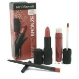 Bare Escentuals BareMinerals 100% Natural Lip Trio (Lipliner + Lipcolor + Lipgloss) - Perfect Bronze - 3pcs