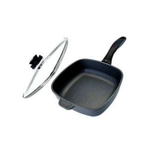 Swiss Diamond Nonstick Square Saute Pan with Lid - 2.1 qt (8 x 8