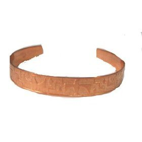 Copper Bracelet Made in USA with Thunderbird Eagle (Womens size cuff bracelet)