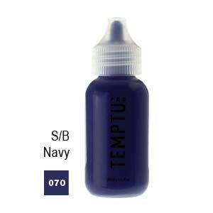 Temptu Pro S/B Airbrush Makeup 1 Ounce Bottle Of Navy Color (#070)