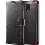 Galaxy Note 4 Case, Verus [Special Edition] Samsung Galaxy Note 4 Wallet Case [Layered Dandy Diary][Black] Classic Vintage Leather Wallet Cover - AT&T, Sprint, T-Mobile, International, and Unlocked - Card Case for Samsung Galaxy Note IV SM-N910S Late 2014 Model