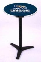 "Brigham Young (BYU) Cougars 30"" Black Wrinkle Pub Table (210)"