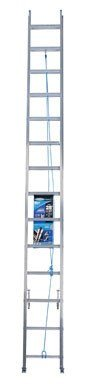 Werner D1328-2 250-Pound Duty Rating Aluminum Flat D-Rung Extension Ladder, 28-Foot image