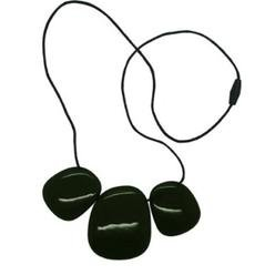 Troika Necklace - Silicone (Teething/Nursing) (Smoke Black)