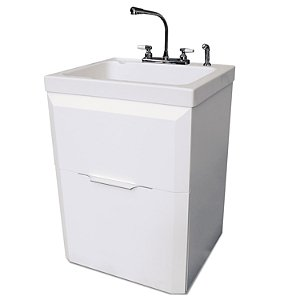 Extra Deep Stainless Steel Utility Sink : Craft Laundry Cabinet and Sink with 14.5