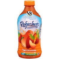 V8 V-Fusion Refreshers Peach Strawberry Juice (Case of 6) (051000207586)