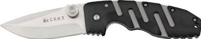 Crkt Ryan Model 7 Folding Knife, 3.375In, Stainless Blade, Black Zytel Handle 6803 Sz