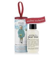 Philosophy Partridge in a Pear Tree Shampoo, Shower Gel & Bubble Bath 2 oz. with ornament packaging