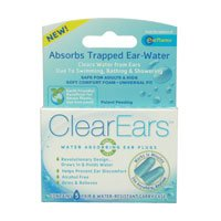 Clearears Water Absorbing Ear Plugs Absorbs Trapped Ear Water 5 pairs + carry case