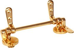 Toilet Wooden Seat Hinge Kit Polished Brass
