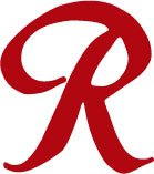 Rainier Beer R Decal Sticker - Size:5.0 x 4.5 inches - Color:Red