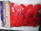 "Creativity Street Pom Pons 50-Piece X 1"" Red - 1"