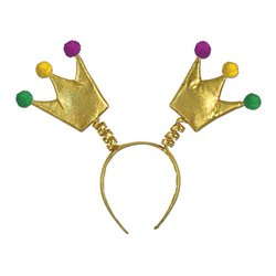 Mardi Gras Crown Boppers Party Accessory (1 count) (1/Pkg)
