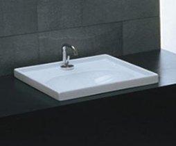 Recessed Wall Sink : Domino Semi Recessed or Wall Mount Bathroom Sink - - Amazon.com