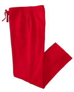 Ladies' Heavy Blend Yoga Style Sweatpants , Color: Red, Size: XX-Large