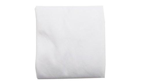 Baby Doll Solid Round Crib Sheet, White - 1