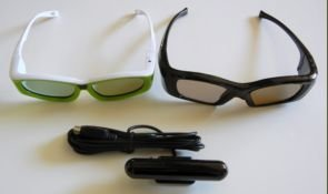 3D Glasses (5) Five) Child Or Adult Size(You Choose When You Order) Kit For Mitsubishi Or Samsung Dlp , Optoma 3D-Xl 3D Box,Viewsonic Vp3D1 3D Box, Moome Extv3 Box, Nvidia Quadro Cards, X3D, I/O, Ed Etc Black 3D Gaming Dongle Etc